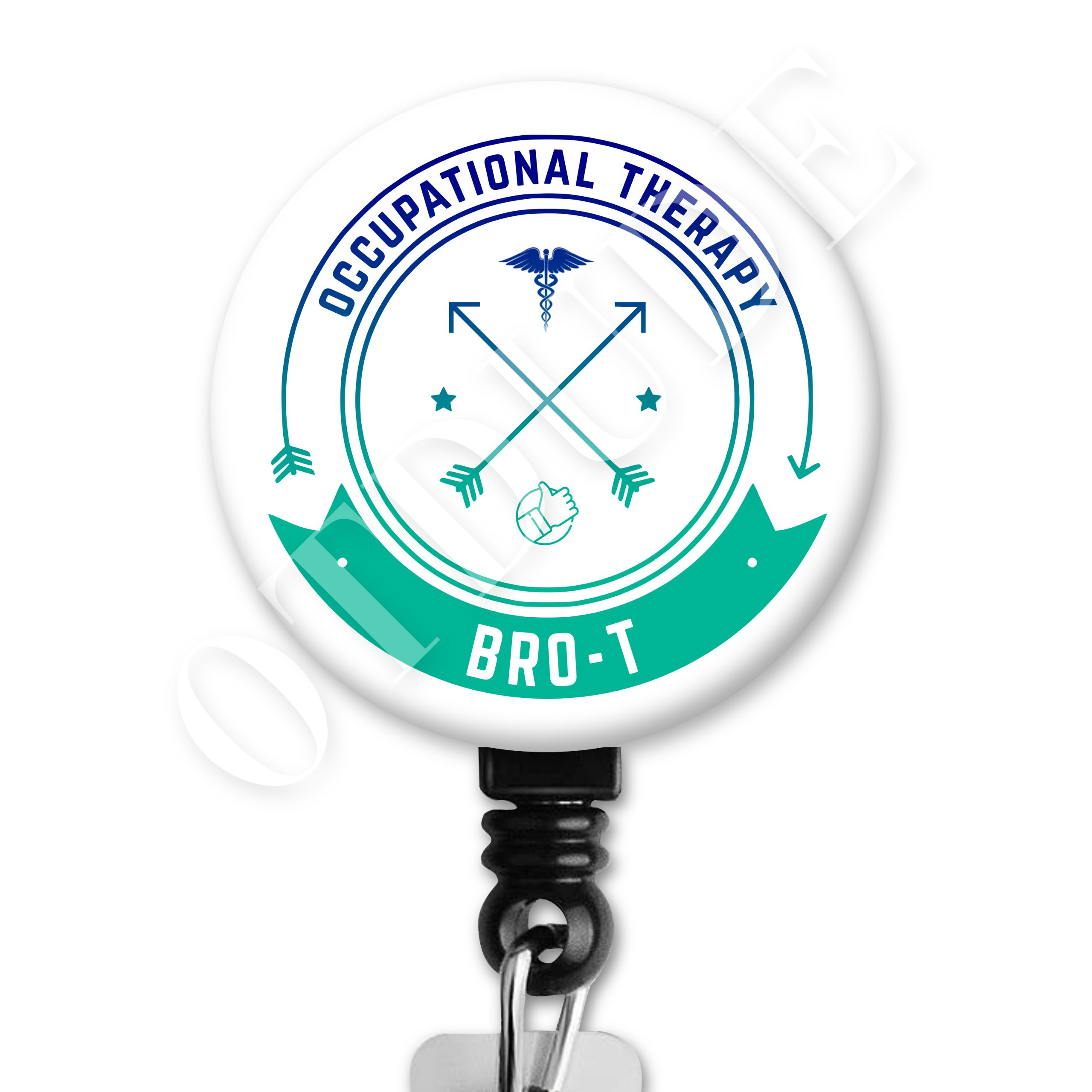 Bro-T / BrOT - Occupational Therapy ID Badge Reel