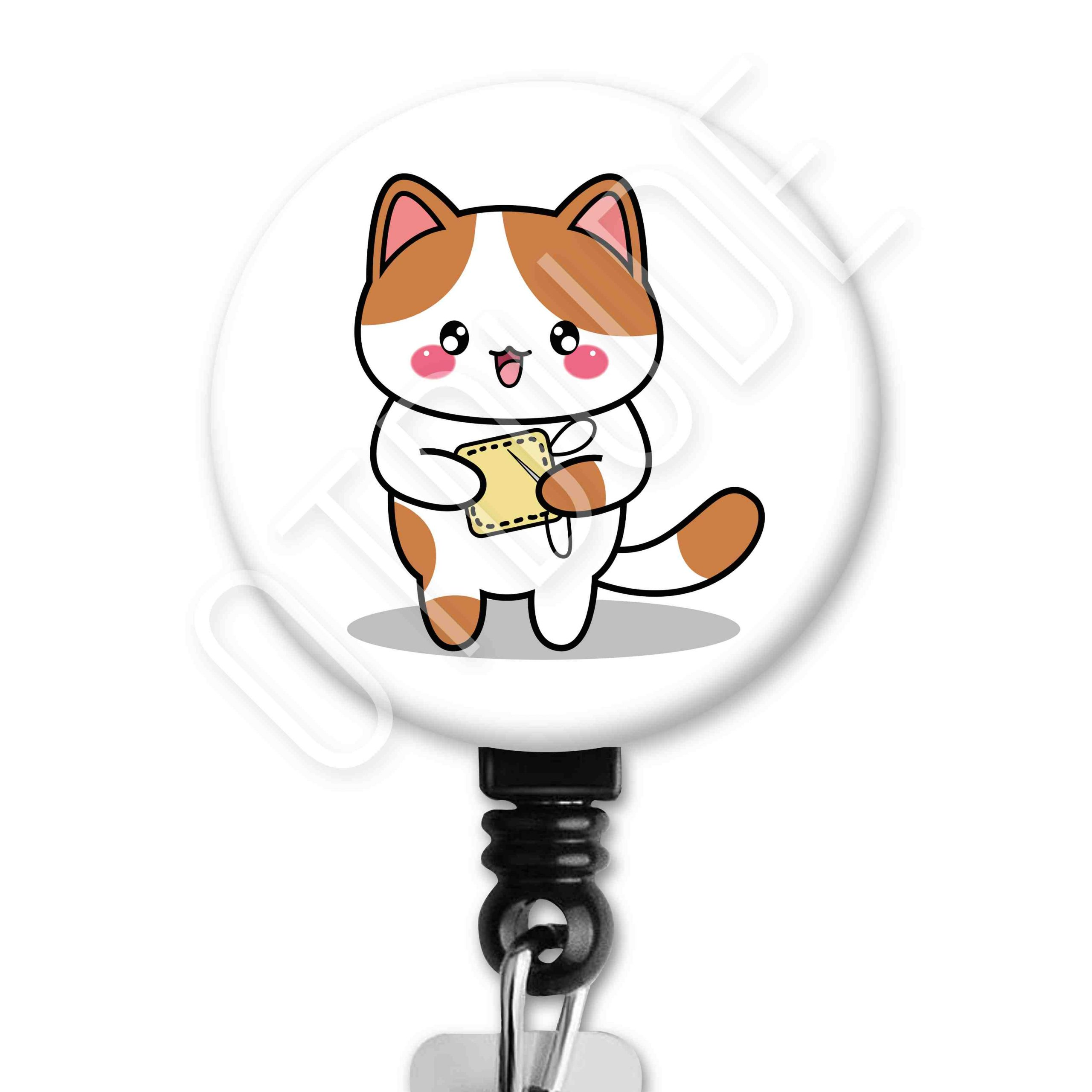 Cat Functional Friends Collection Occupational Therapy Badge Reel