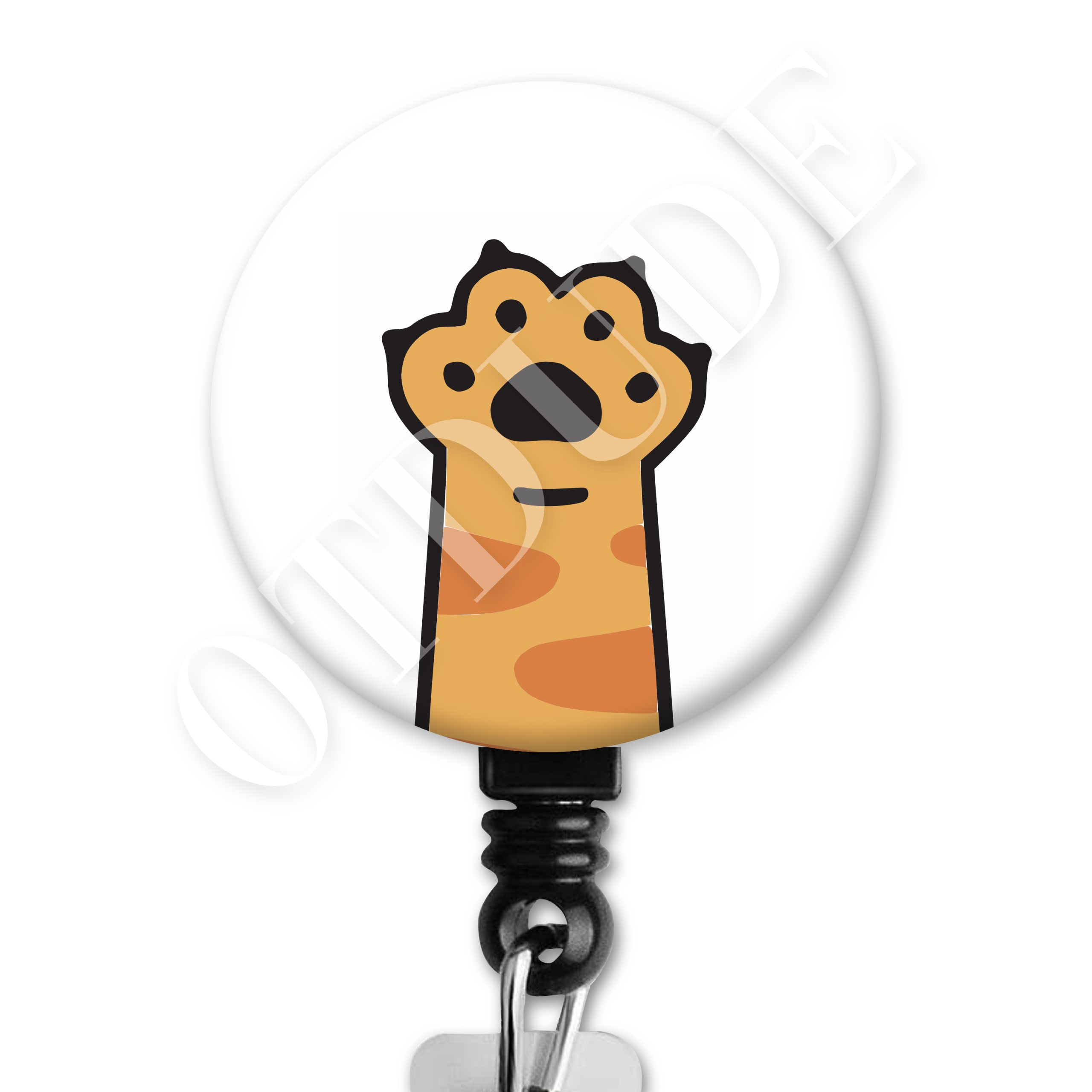 Cat Paw Occupational Therapy Badge Reel