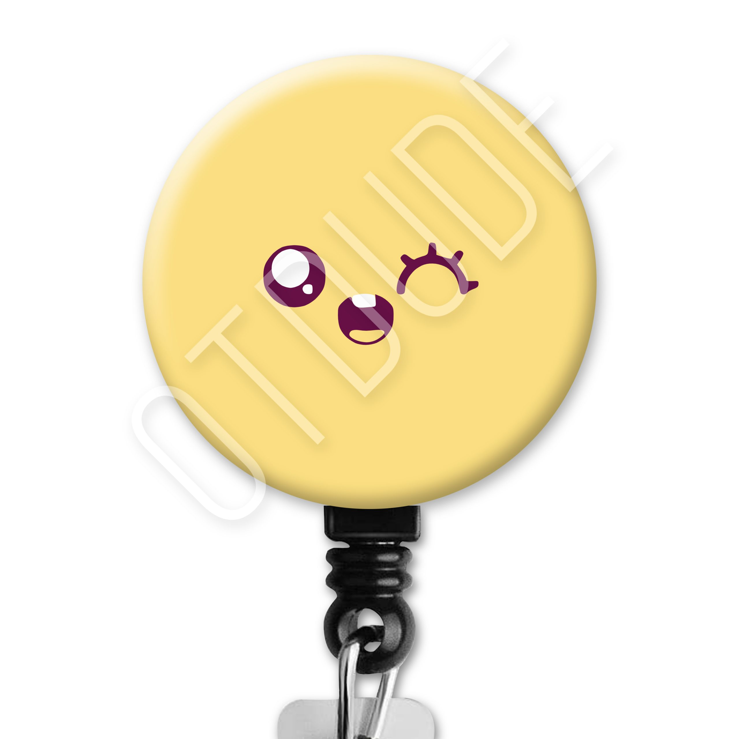 Kawaii Wink Face Occupational Therapy Badge Reel