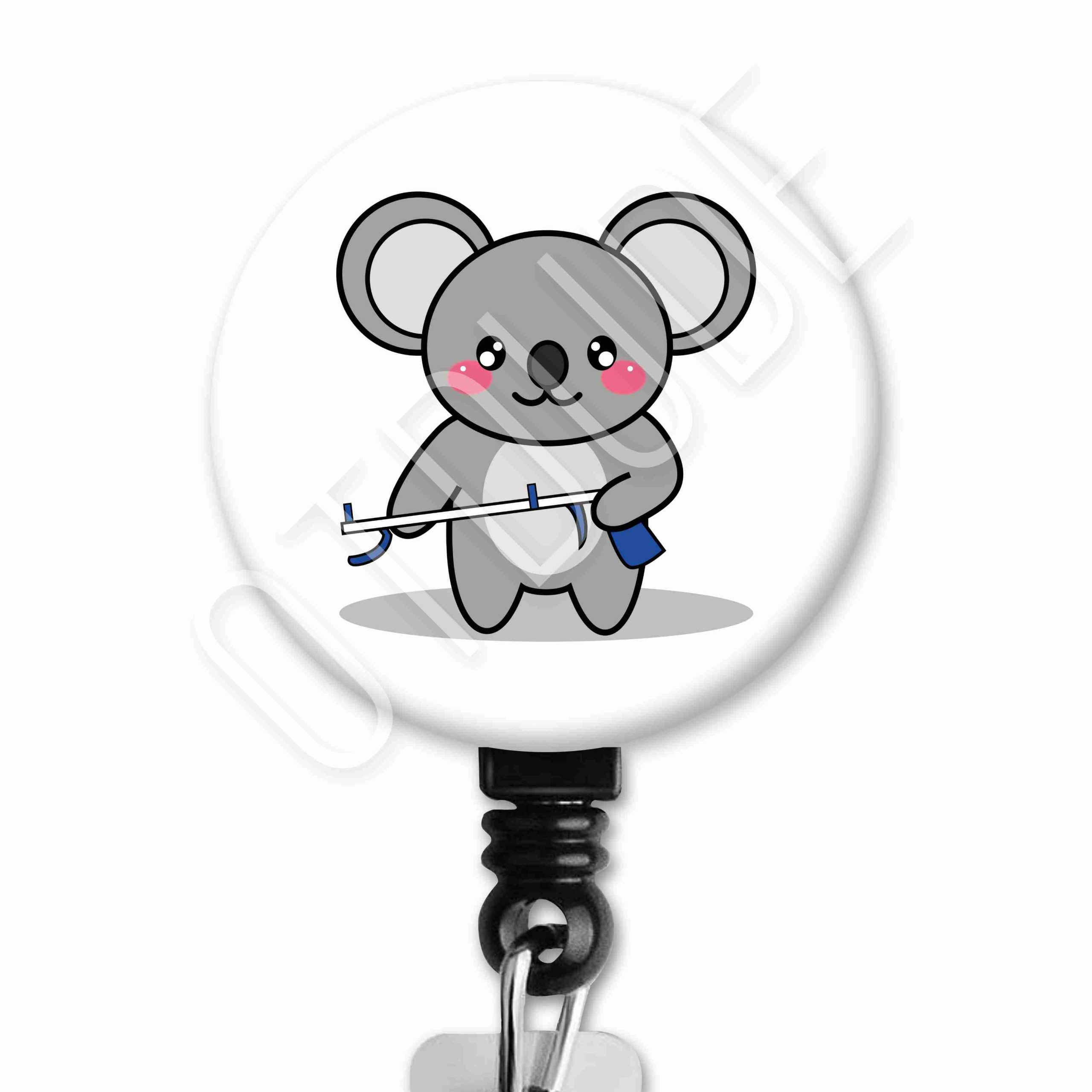Koala Functional Friends Collection Occupational Therapy Badge Reel