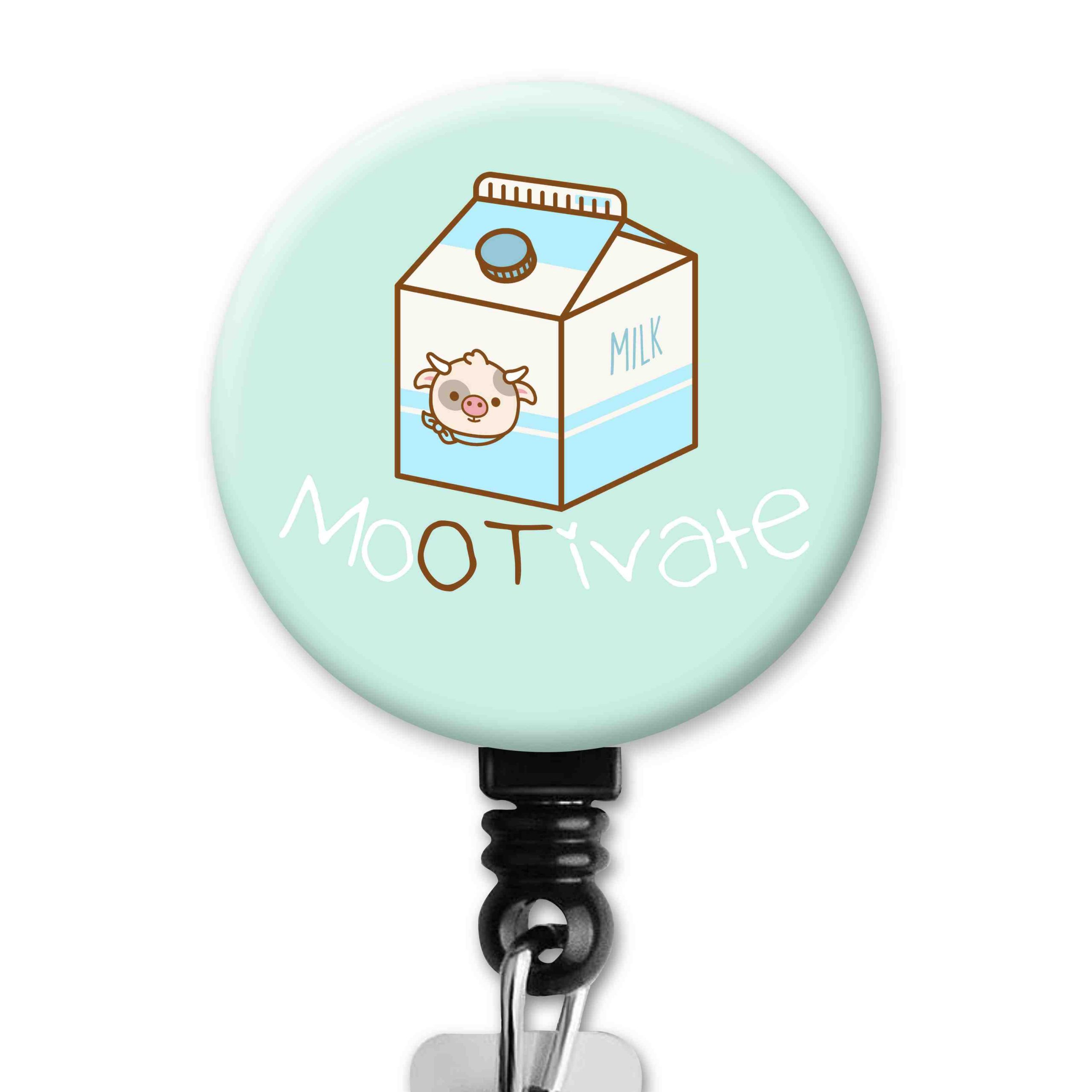 Milk Cow Mootivate Occupational Therapy Badge Reel