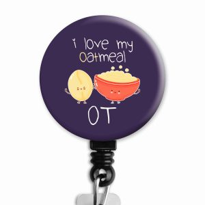 Oatmeal OT Badge Reel Product Image