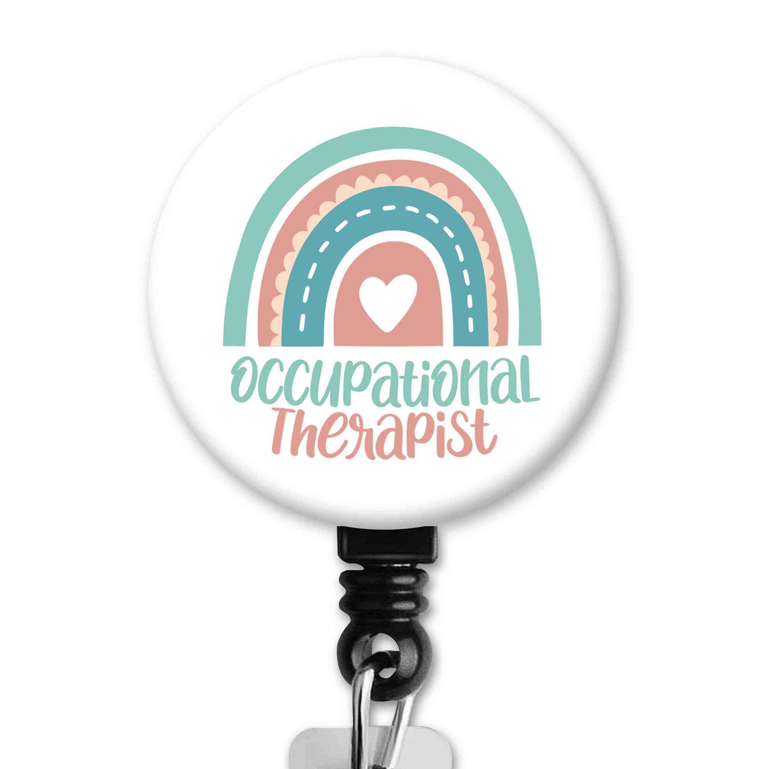 Rainbow Heart Occupational Therapy Badge Reel