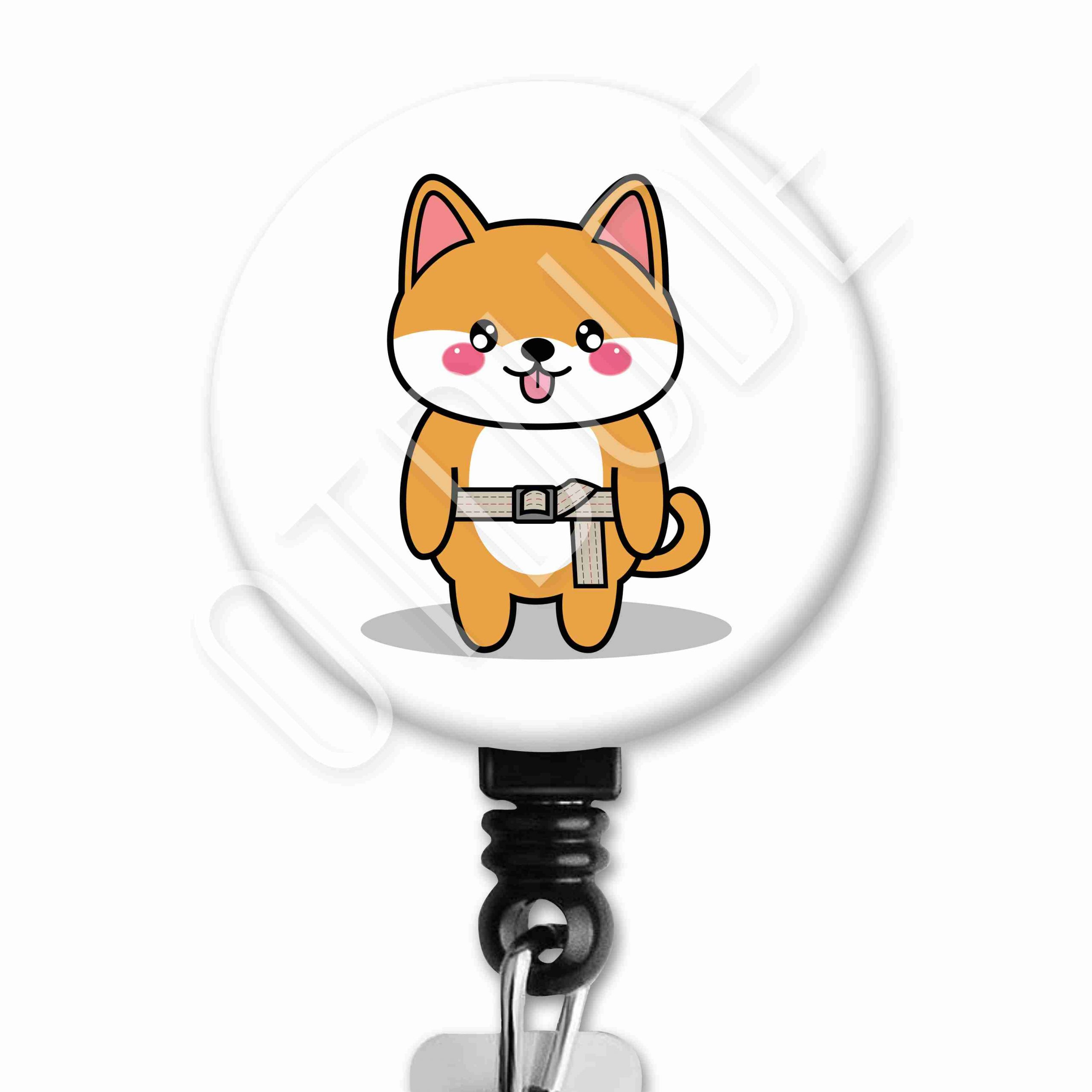Shiba Inu Functional Friends Collection Occupational Therapy Badge Reel