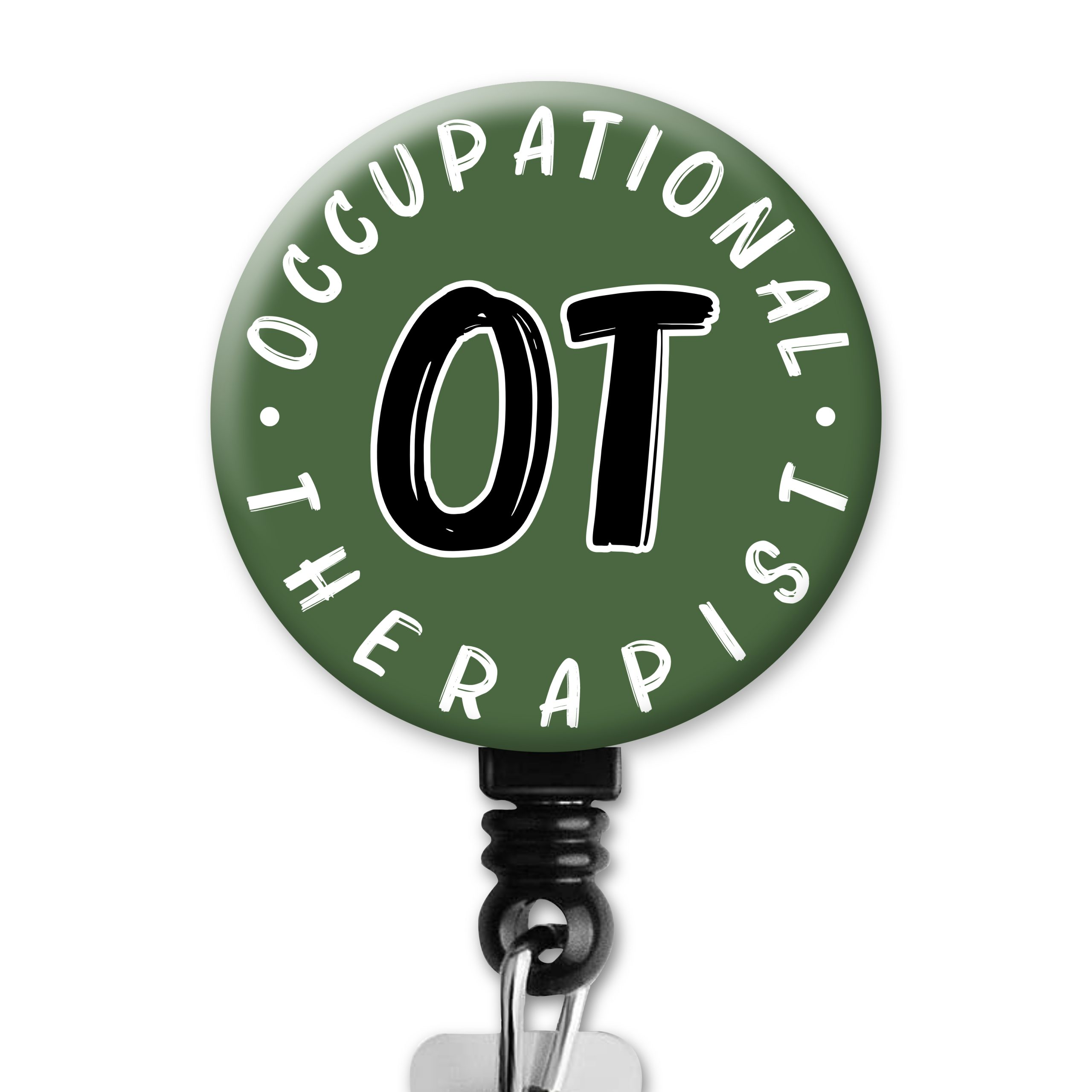Simple Green OT Occupational Therapy Badge Reel