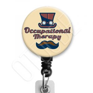 Steampunk Occupational Therapy Badge Reel Product Image