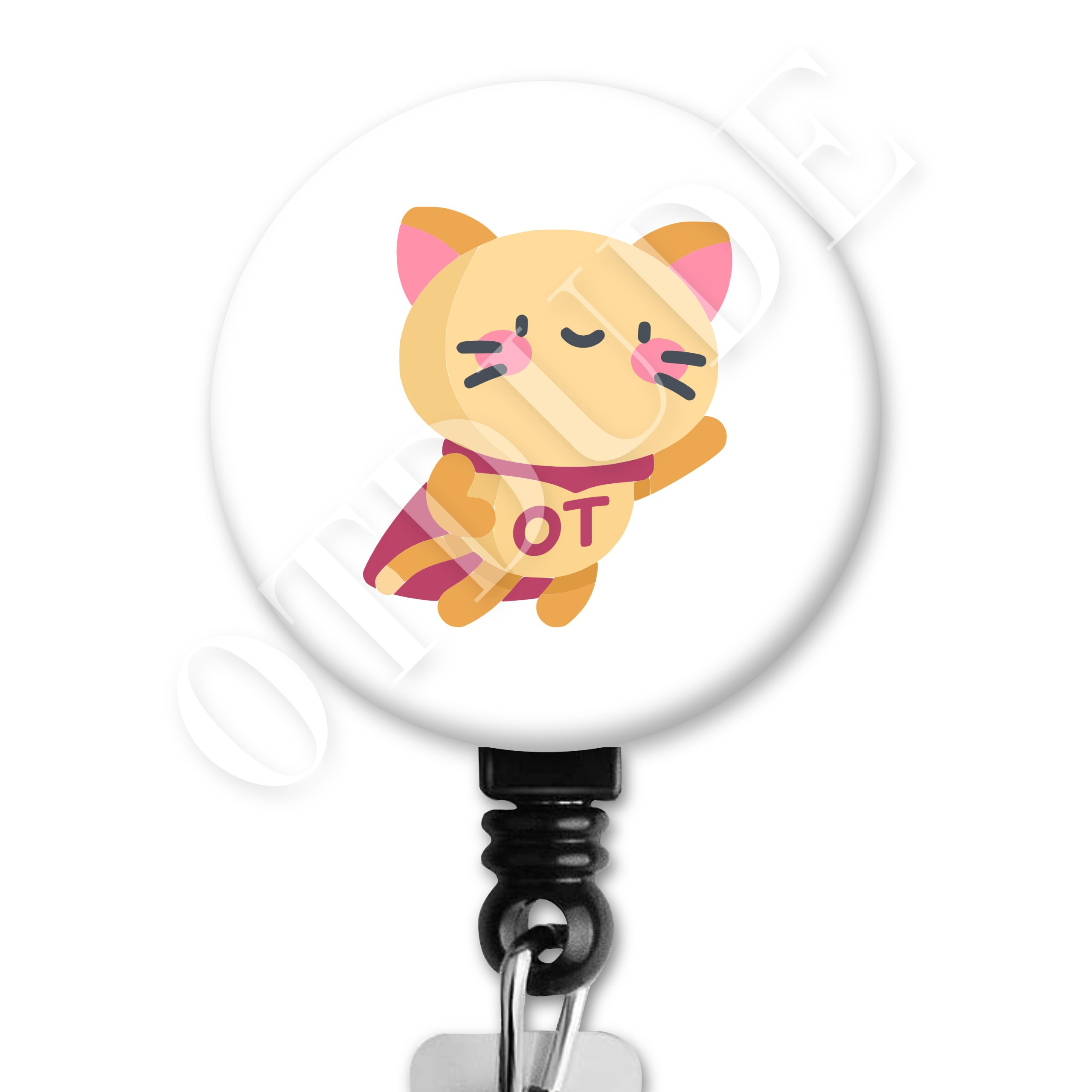 Super OT Cat Occupational Therapy Badge Reel