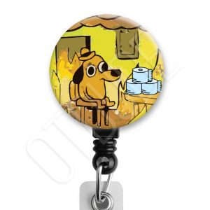 This is Fine Toilet Paper Meme Badge Reel Product Image