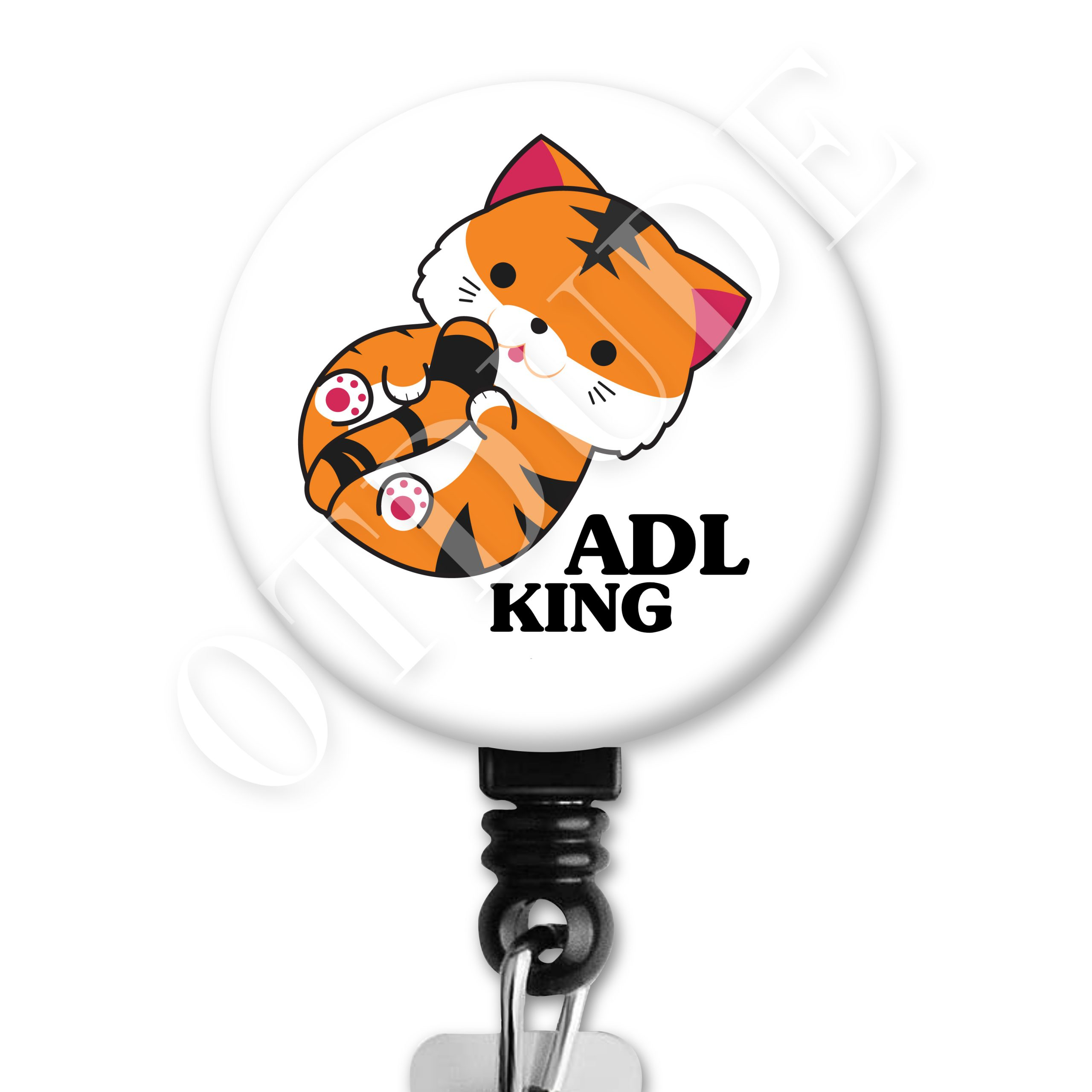 Tiger King ADL Occupational Therapy Badge Reel