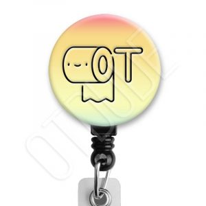 Kawaii Cute Toilet Paper Occupational Therapy Badge Reel Product Image