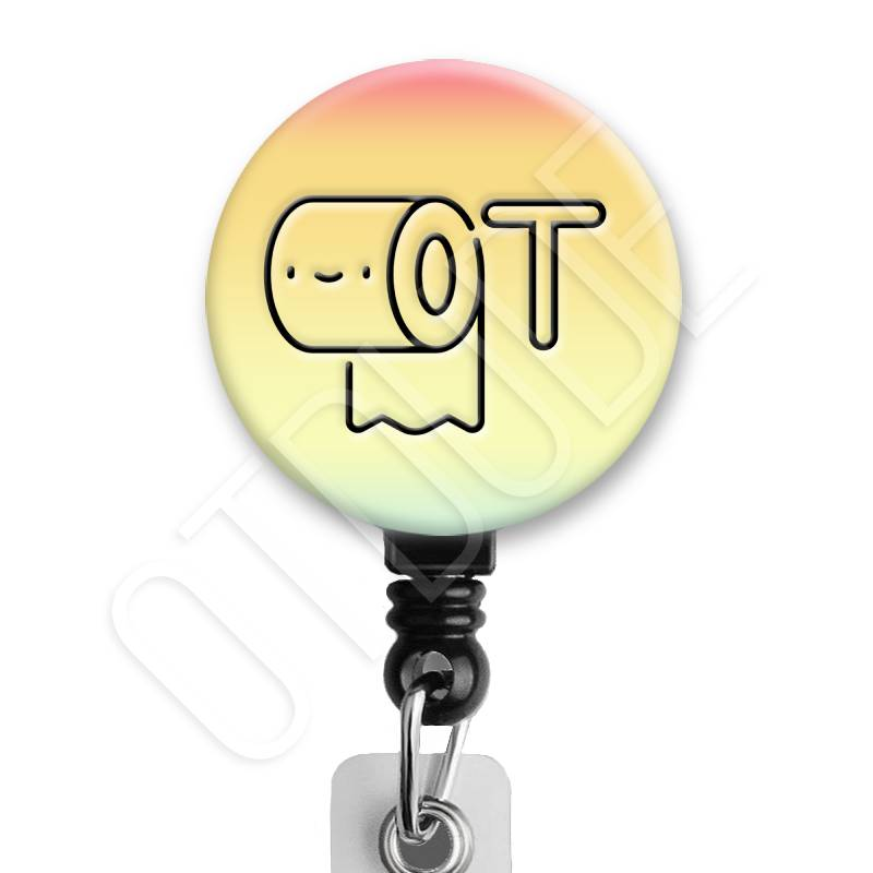Kawaii Cute Toilet Paper - Occupational Therapy Badge Reel