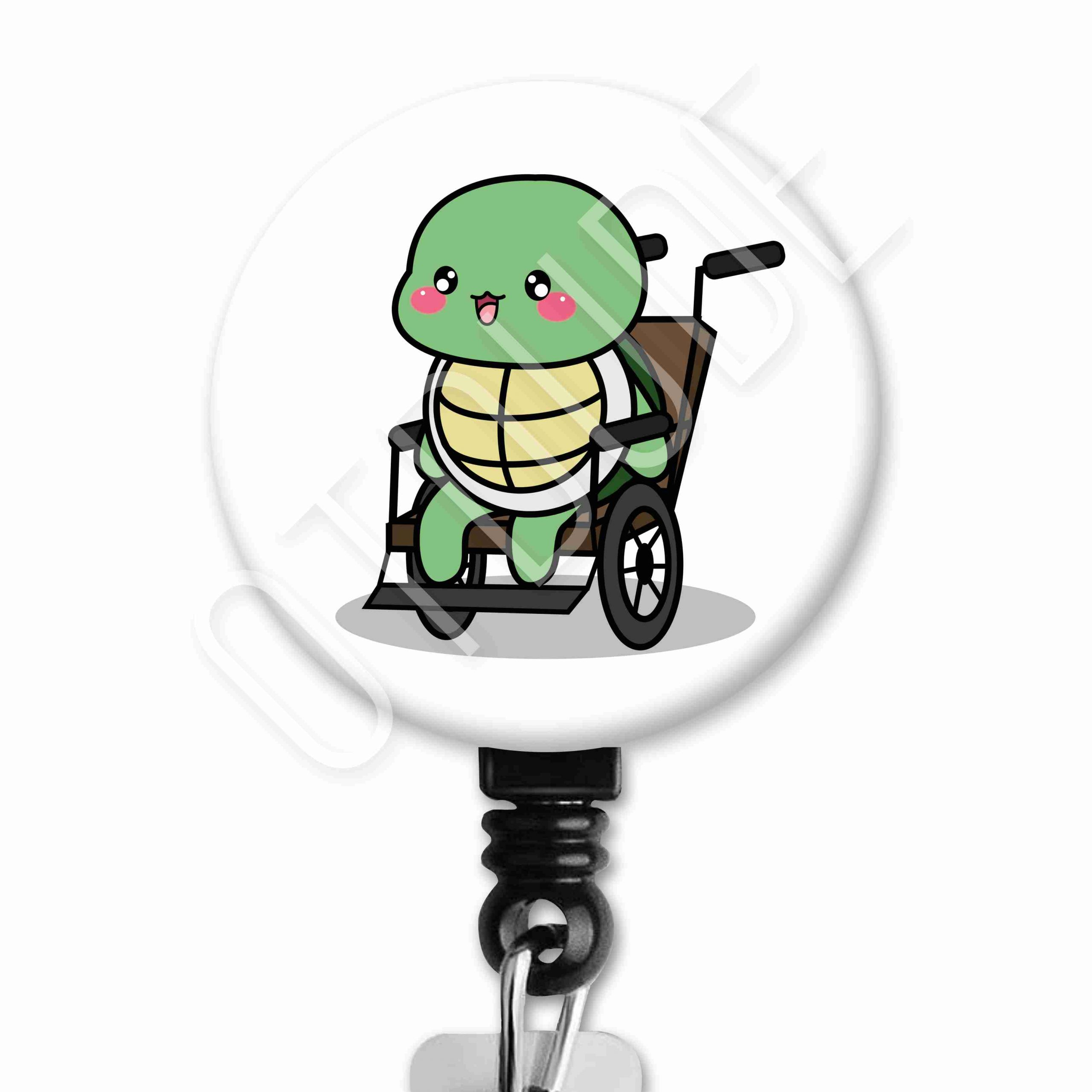 Turtle Functional Friends Collection Occupational Therapy Badge Reel