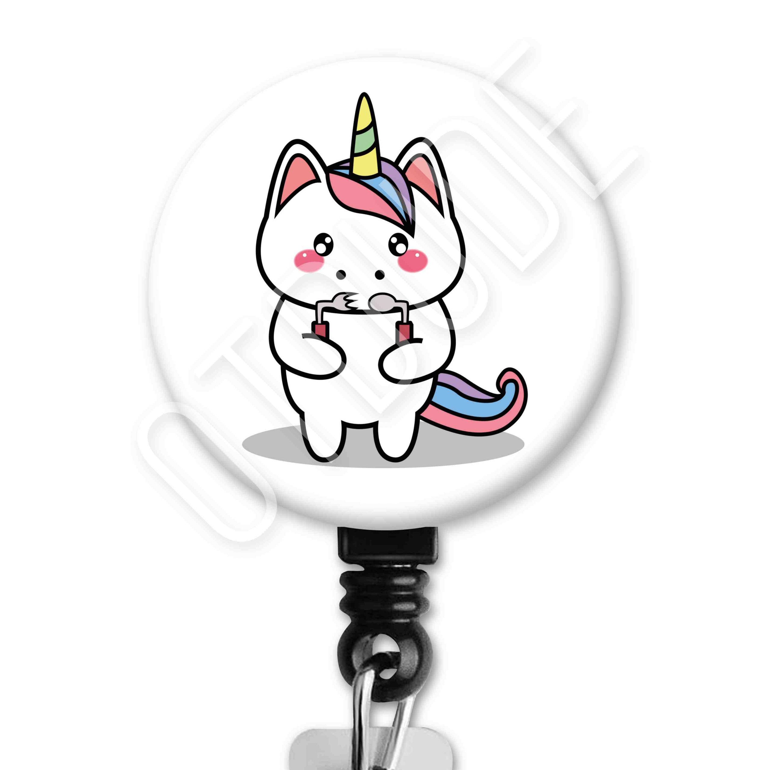 Unicorn Functional Friends Collection Occupational Therapy Badge Reel